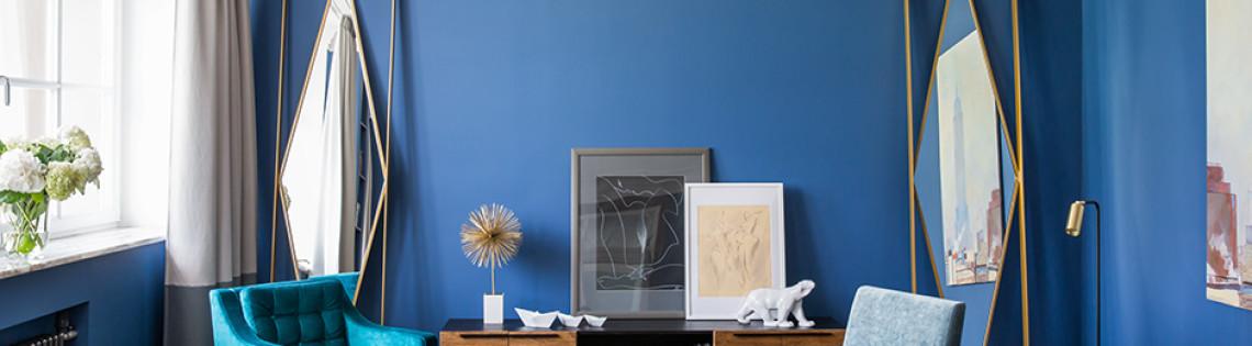 'Как правильно применять синие тона при создании уютного интерьера