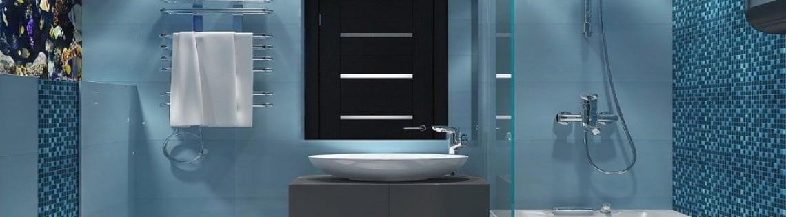 'Ванная комната в голубых тонах: советы по оформлению