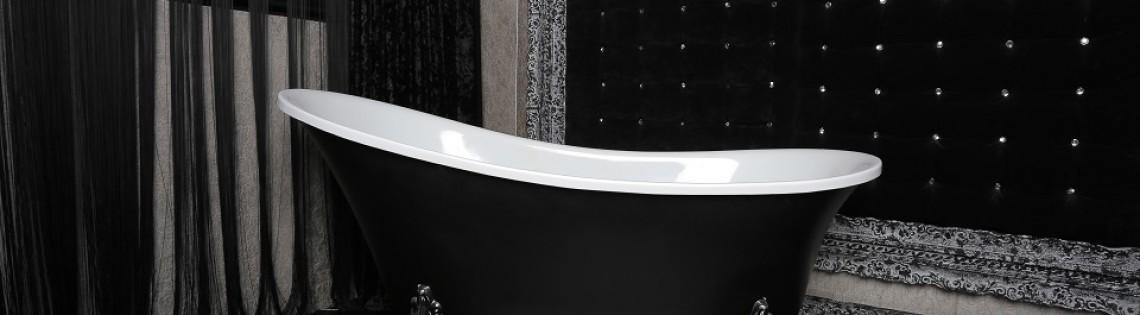 'Ванная в черном – облицовка и топ популярных современных дизайнерских решений