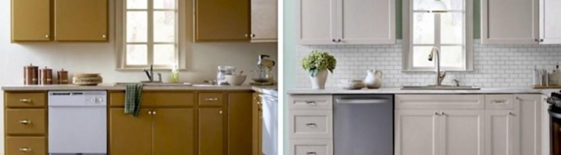 'Руководство по самостоятельному перекрашиванию кухонных фасадов