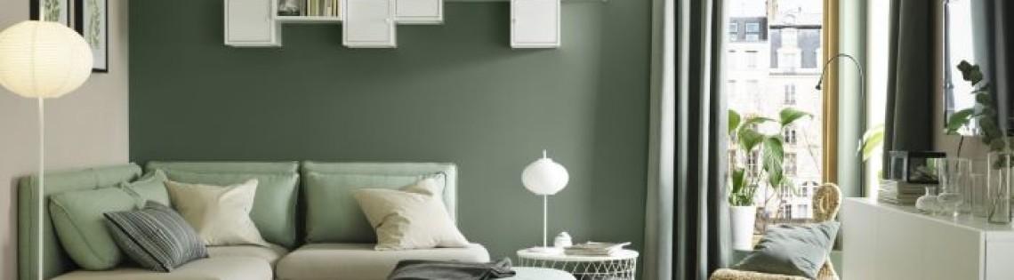 'Как сочетать зеленые оттенки в интерьере