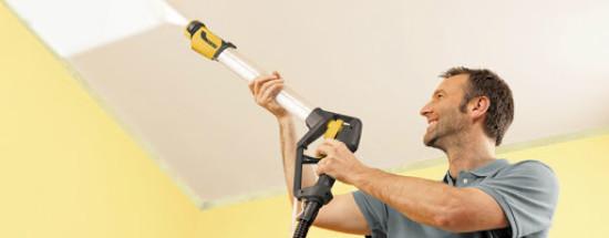 'Потолочный краскопульт: инструкция к применению и правила использования