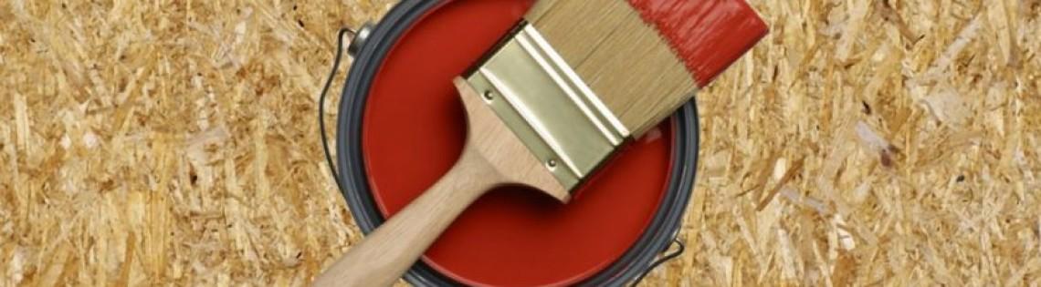 'Специальное лакокрасочное средство Soppka для окрашивания плит ОСБ