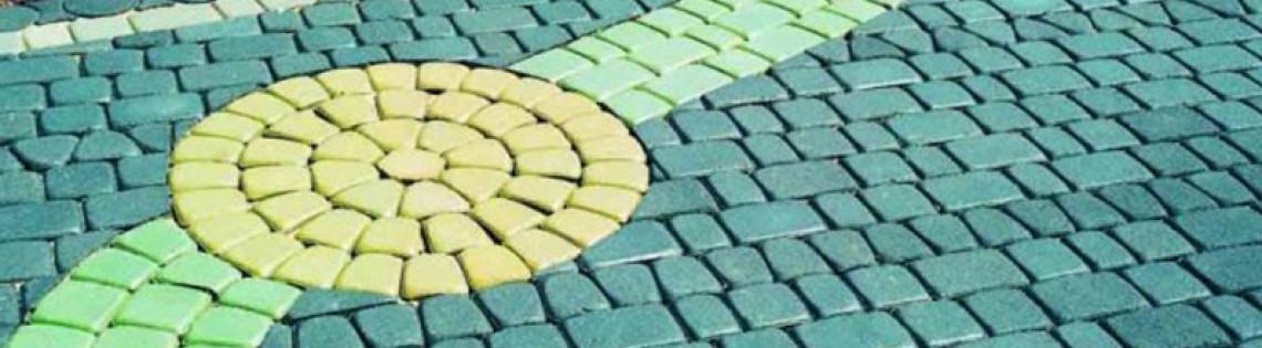 'Каким образом и какой краской можно окрасить тротуарную плитку