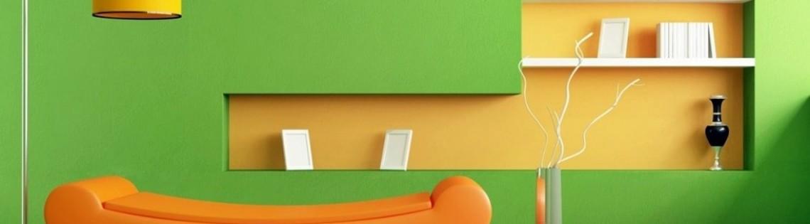 'Всё о технологии покраски поверхности стен внутри комнаты