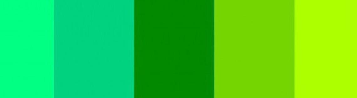 'Различные способы получения зеленого тона