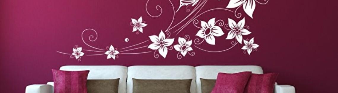 'Делаем стеновые трафареты для покраски своими руками