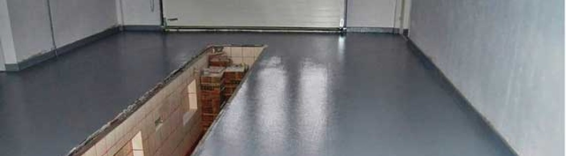 'Правила самостоятельной покраски пола из бетона в гараже