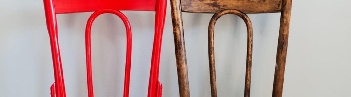 'Как правильно выбрать краску и подготовить стул для покраски