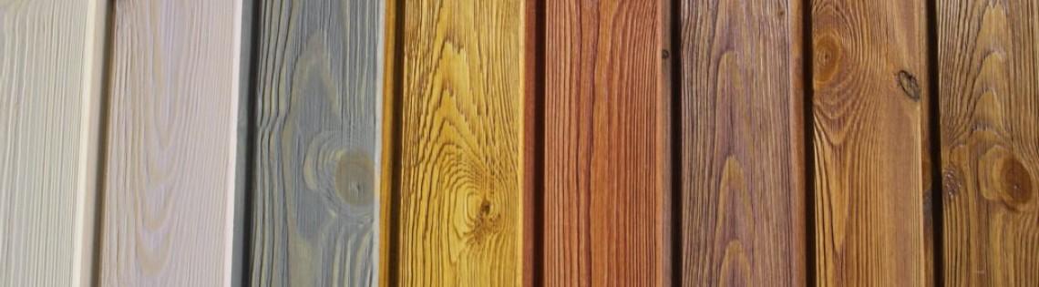'Как можно окрасить материал под брус снаружи и внутри дома