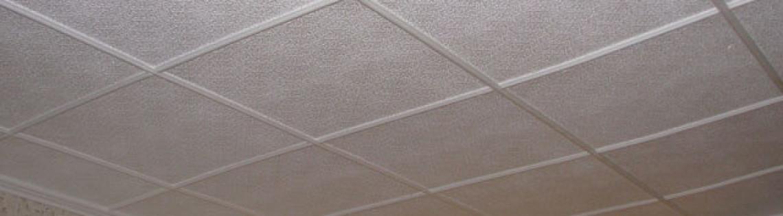 'Процедура поклейки потолочной плитки