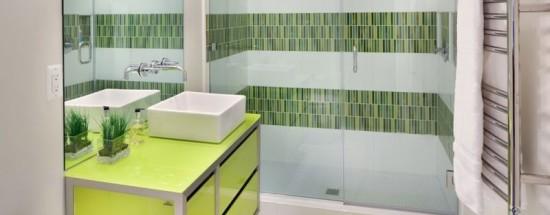 'Ванная комната в зеленых оттенках: стили, применение, сочетания