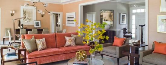 'Поговорим об оформлении интерьера помещения в цвете персика