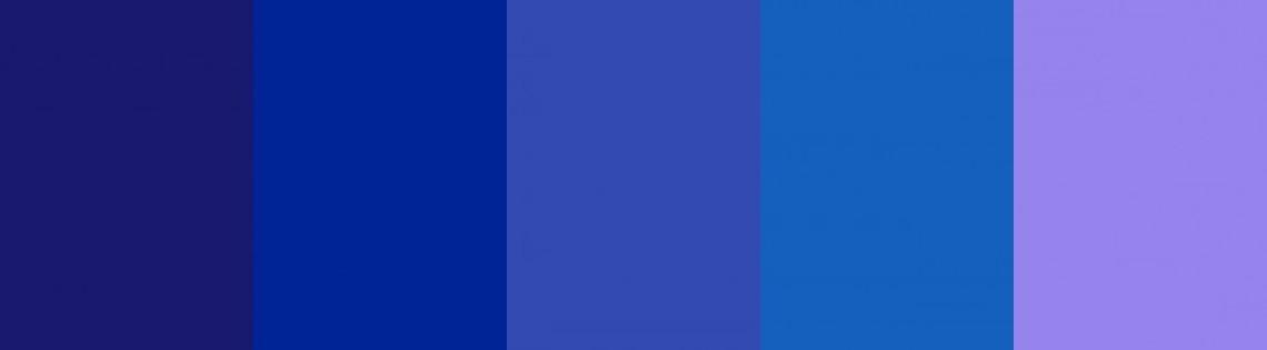 'Пути получения синего тона краски и его разных оттенков