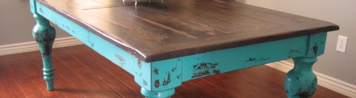 'Как окрасить стол из дерева самостоятельно