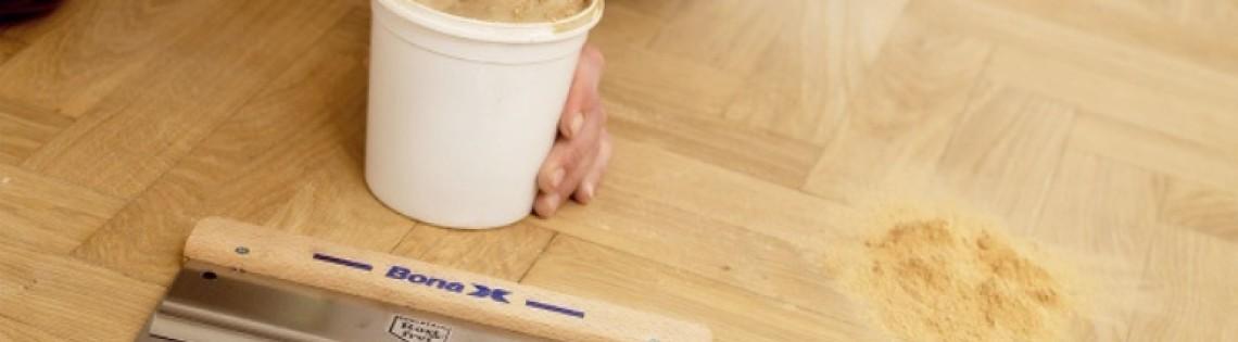 'Типы и рецепты приготовления шпаклевочного материала по древесному полу