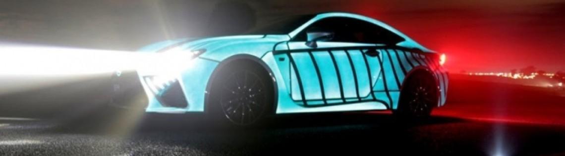 'Применение краски люминесцентного и электролюминесцентного видов