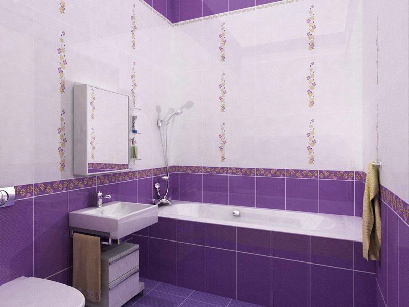 Аспекты оформления пространства фиолетовой ванной