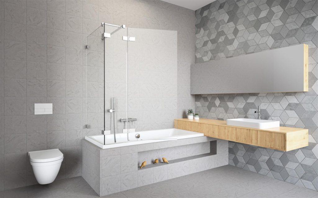 комната с ванной и умывальником
