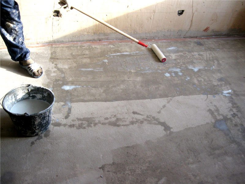 Технология нанесения грунта перед укладкой линолеума