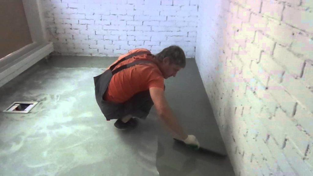 Технология нанесения на бетон