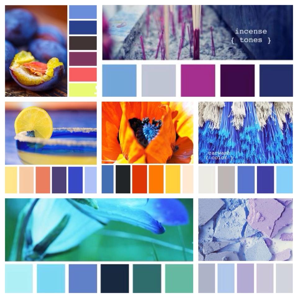 Сочетание голубого с другими цветами