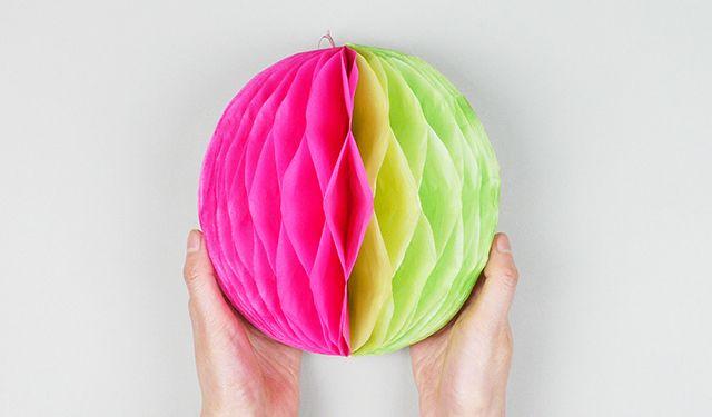 Объемный шар из бумаги
