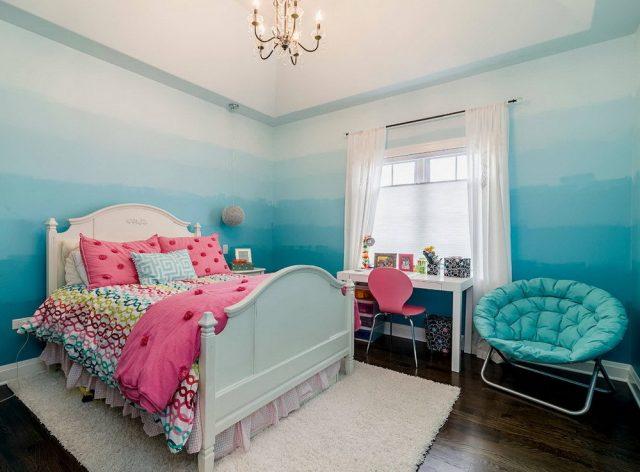 покраска с переходом в спальне