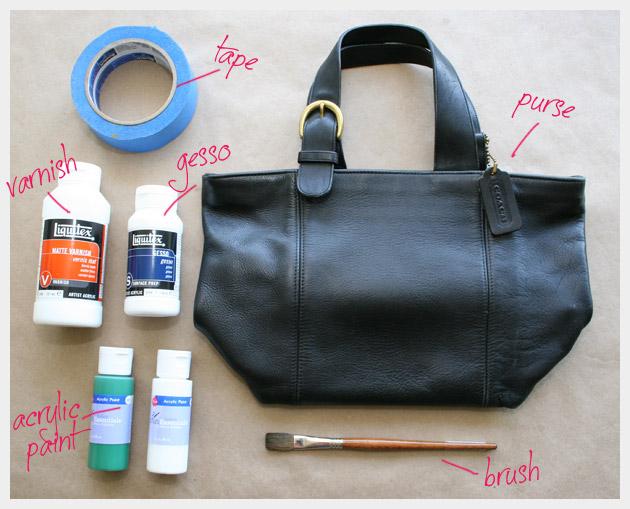 сумка и материалы
