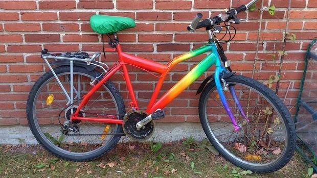 покраска велосипедной рамы