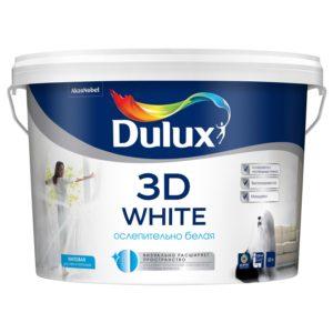 Краска для интерьеров Dulux (белая, 10 литров)