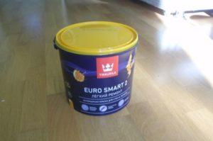 Краска Тиккурила Евро Смарт 2 (белая, 9 литров)