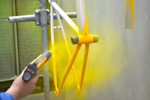 покраска велосипедной рамы порошковой краской