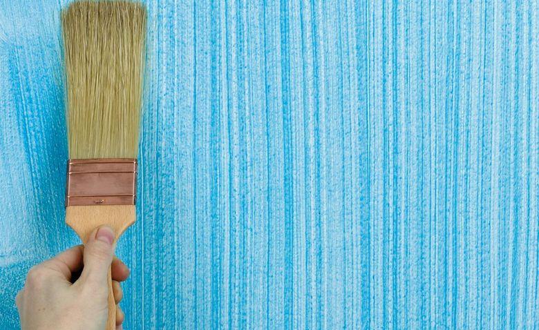 покраска стен веником