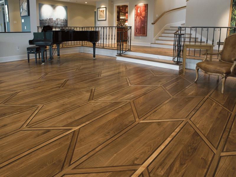 деревянный пол