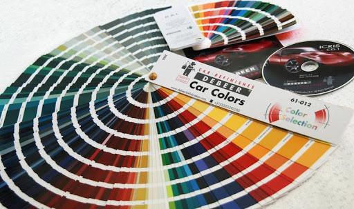 выбор цвета с палитры