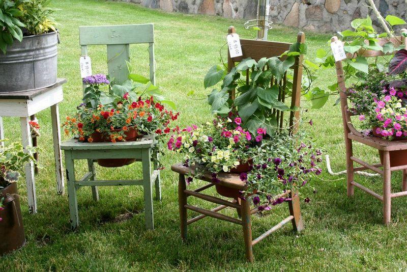 реставрация стульев для вазона