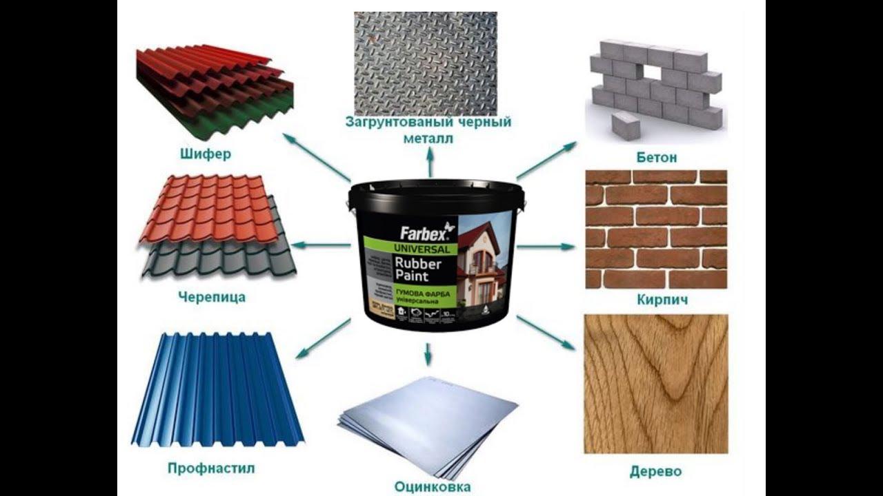 Резиновая краска - особенности применения