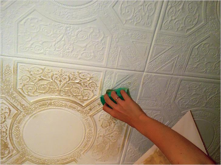 покраски панелей для потолка