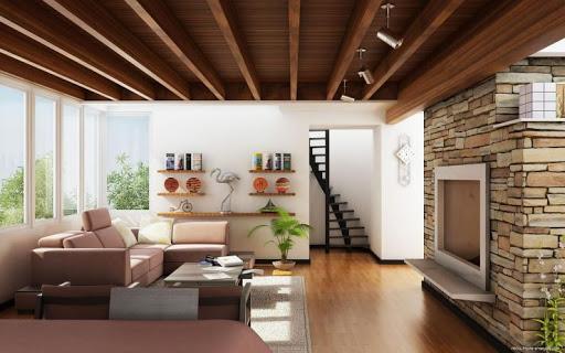 лакированные деревянные потолки