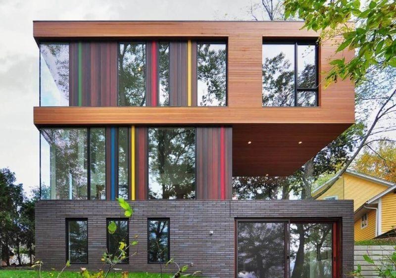 цветовые акценты на фасаде