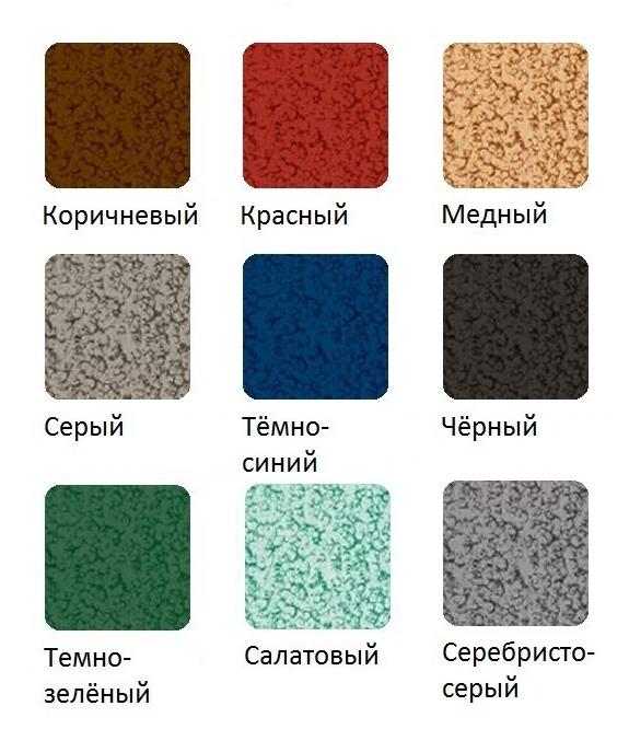 молотковая краска палитра