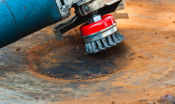 удаление ржавчины механическим способом