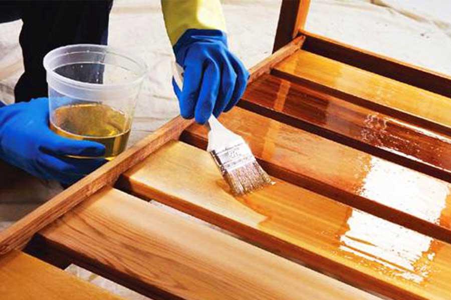 применения лака на оливе