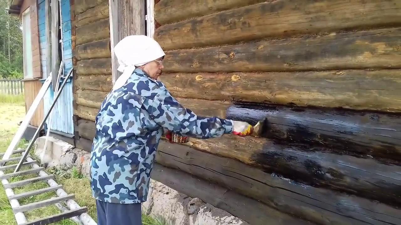 обработка древесины отработанным маслом