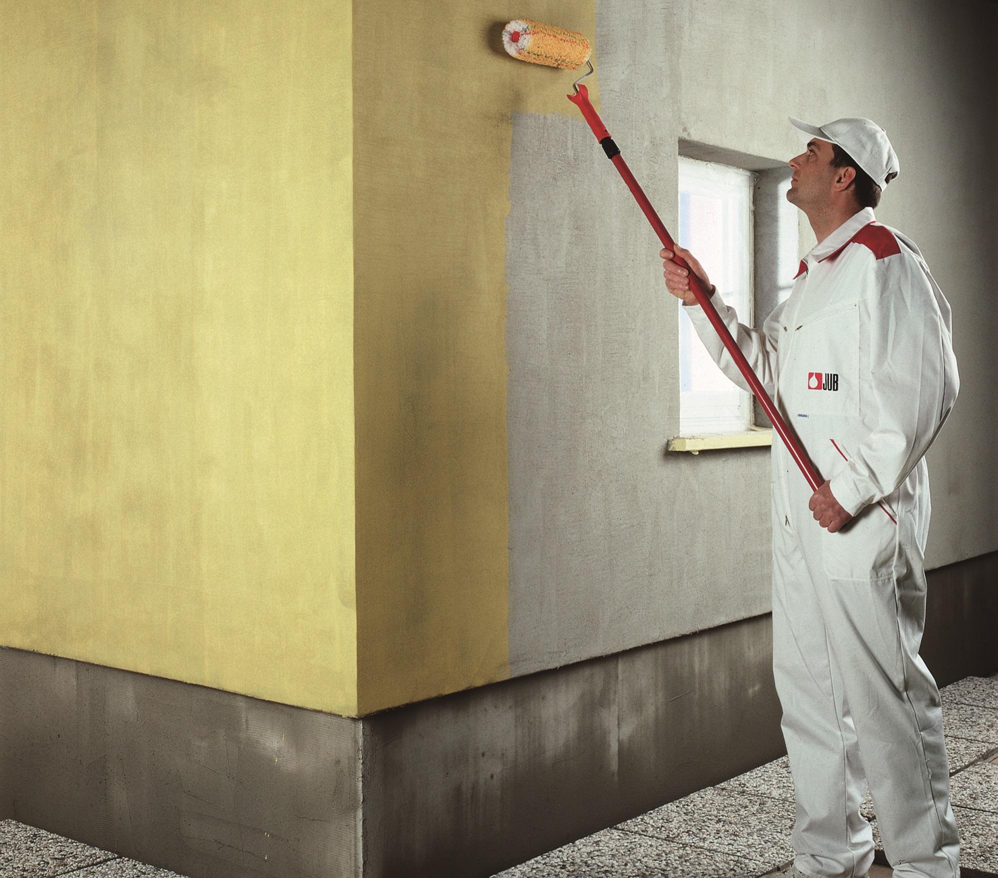 окрашивание бетонного фасада