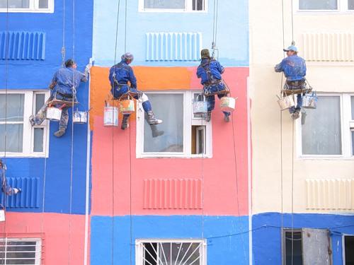 окрашивание фасадов