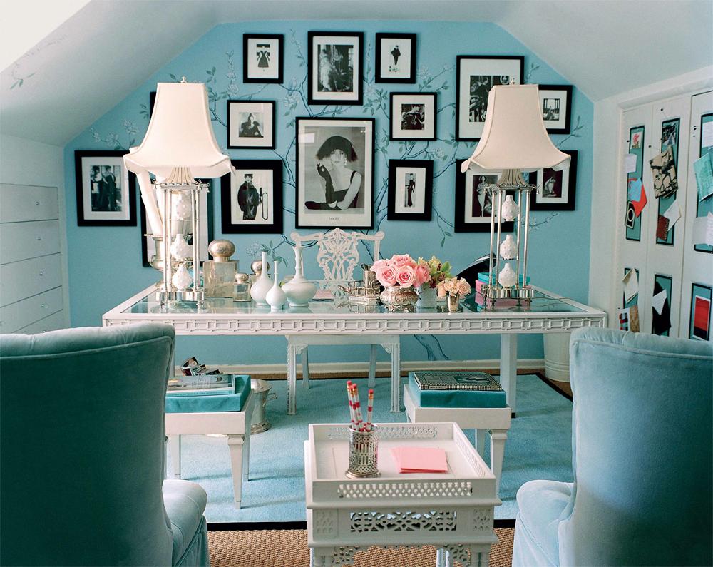 кабинет цвета тиффани