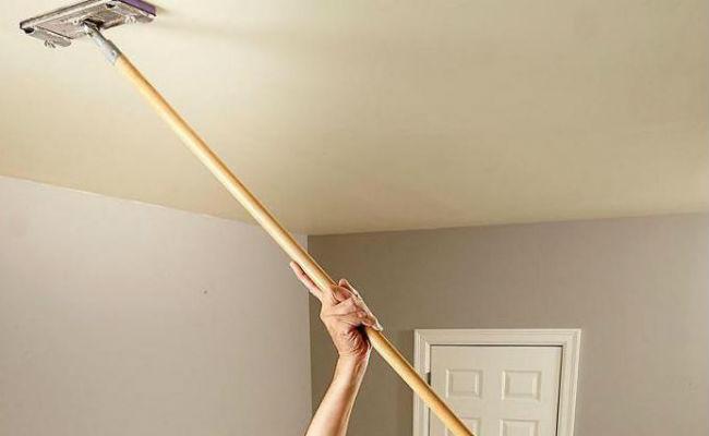 очистка окрашенного потолка