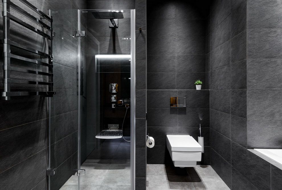 темно-серая ванная